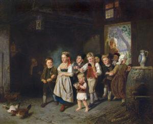 Adeline Jaeger: Kinderhochzeit, 1877