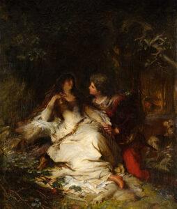 Adeline Jaeger: Paar im Wald, 1875