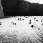 Dornheckensee, als zugefrorene Eisfläche ein beliebter Eissportplatz