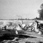 Rheinufer bei Oberkassel im Winter 1956